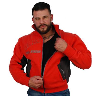 Brachial Zip-Sweater Original Rot/Schwarz Black/Red Bodybuilding Fitness - Original Zip