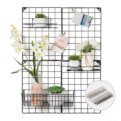 Multifunction Metal Mesh Grid Panel Wire Wall for Photo Hanging Display (Wire Mesh Hanging)