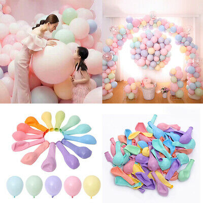 Lot of 100 10 Latex Macaron Candy Color Balloons For Hawaii Birthday Party Decor](Balloons Hawaii)
