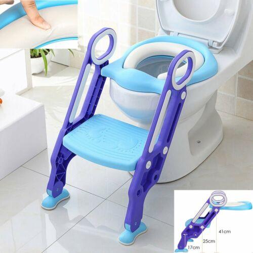 3 in 1 Toilettentrainer Kinder Baby Toilettensitz Lerntöpfchen Faltbar Leiter DE