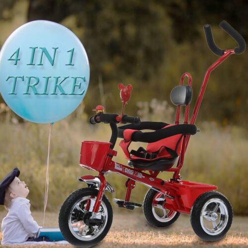 sale toddler smart design 4 in 1 childrens tricycle kids. Black Bedroom Furniture Sets. Home Design Ideas