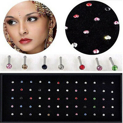 60PCS Wholesale Body Jewelry Mix Lot Nose Stud Piercing Display Earring sJewelry