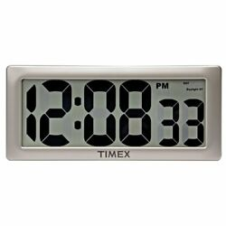 Timex 75071TA2 13.5 Large Digital Clock with 4 Digits and Intelli-Time