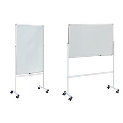 36 Dry Erase Stand Magnetic Double Sided Whiteboard Rolling Wheels Business
