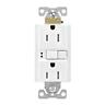 Eaton TRSGF15W 15 Amp 125V GFCI TR Duplex Receptacle with Self-Test, White
