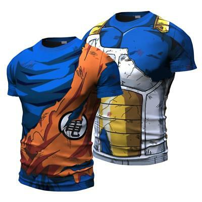 Dragon Ball Z Costume Goku Son Gokou Vegeta Shirt Tight Shirt Vest Long Sleeve - Dbz Goku Costume