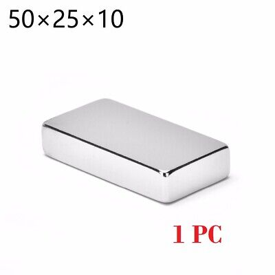 Max Magnets Super Strong N35 Large Block Magnet 2x1x38 Rare Earth
