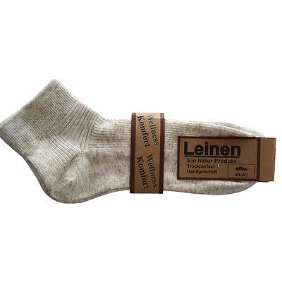 6 Paar Leinen Kurzschaft Socken Füsslinge Baumwolle Leinen ohne Naht Wellness