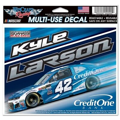 Kyle Larson 2018 Wincraft  42 Credit One 4 5X5 5 Multi Use Decal Free Ship