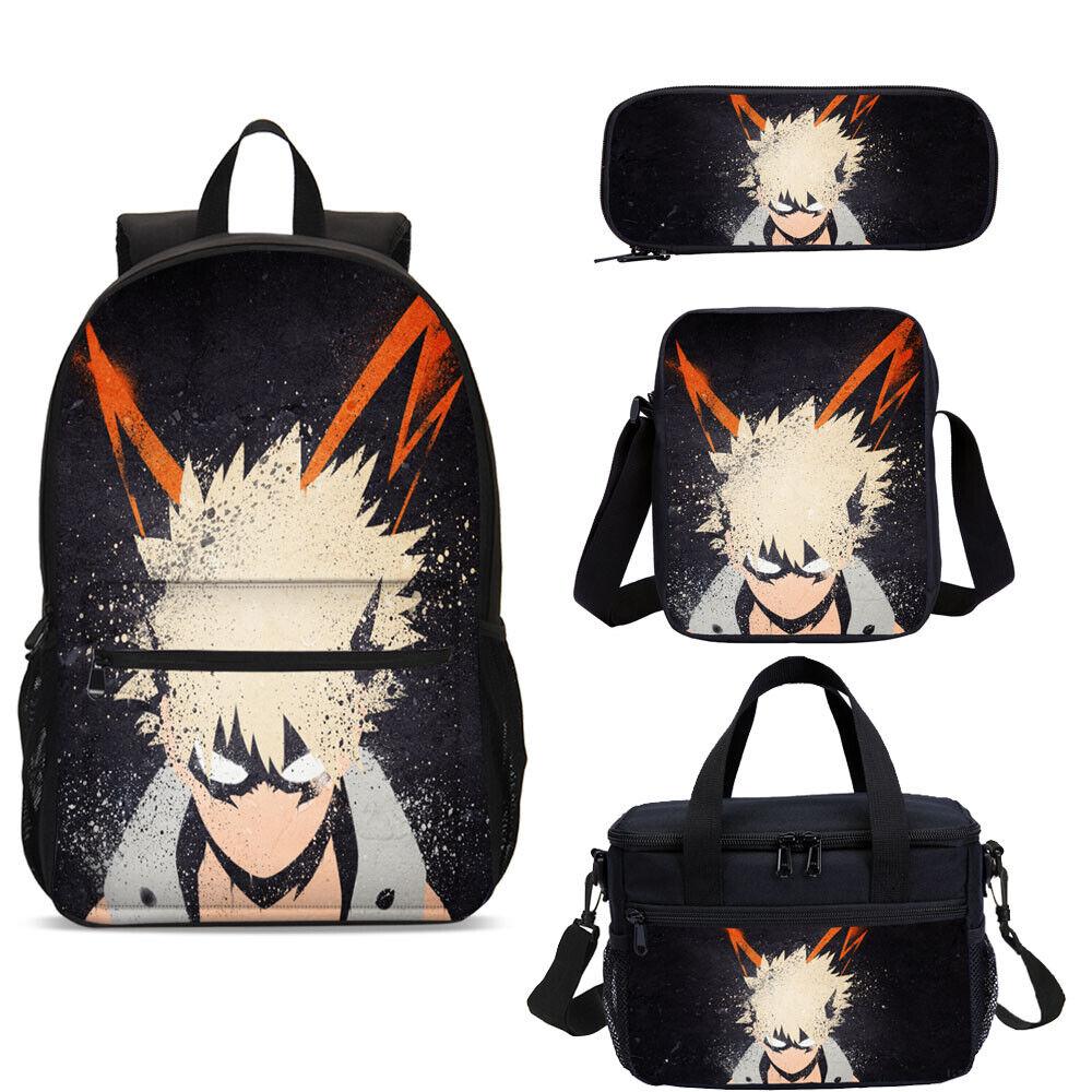 My Hero Academia School Backpacks Insulated Lunch Bag Shoulder Bag Pen Case Lot