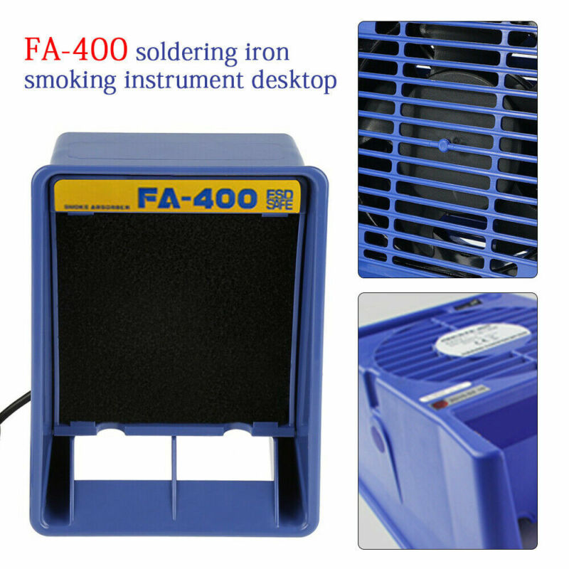 Solder Iron Smoke Absorber Fume Extractor Fan For Soldering Station FA-400 110V