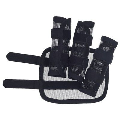 Tough-1 Miniature Fleece Lined Fly Boots Mini Horse Size Set of Four Black