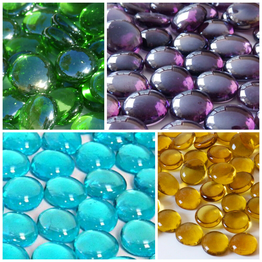 Round Glass Pebbles / Stones / Nuggets / Beads - Choice of Colours & Quantities