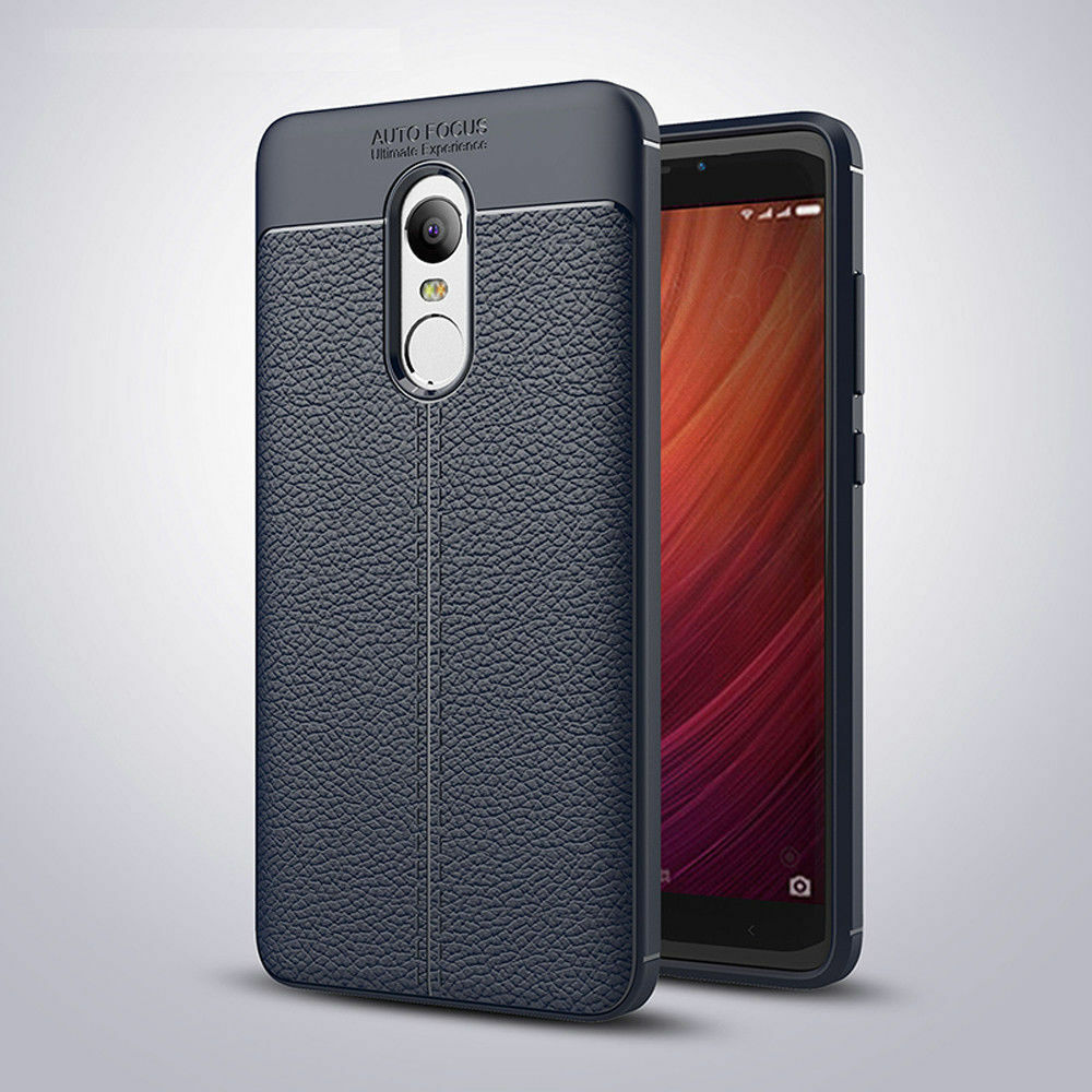 finest selection 06d2e b7043 Details about Shockproof Soft TPU Leather Slim Back Case Cover For Xiaomi  Redmi 4A Note 4X