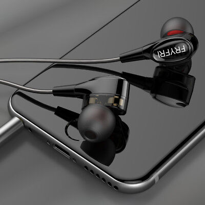New Earphones with Mic wired Earbuds Dual Driver for IOS and Android