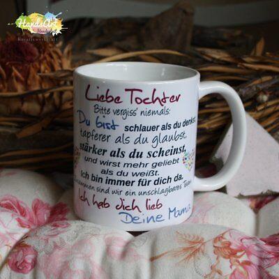 Valentin Kinder (Tasse / Liebe Tochter - Deine Mama / Geschenk Kinder Weihnachten Valentinstag)