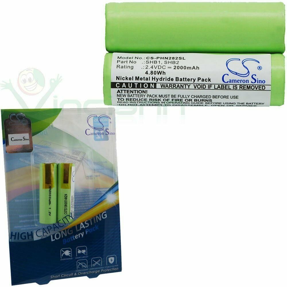 vintrons 2000mah 4 80wh battery for braun