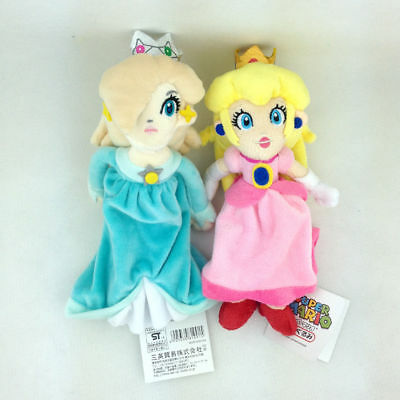 2X Super Mario Bros Princess Peach Rosalina Plush Toy Stuffed Anime Pink Blue 8