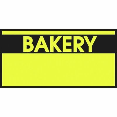 Monarch Yellow Labels With Reversed Black Print Bakery For 1110 1-line Pricing