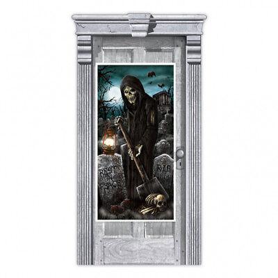 Halloween-Party Tür Banner Dekoration Friedhof Sensenmann Grave Digger (Halloween Friedhofs Dekorationen)