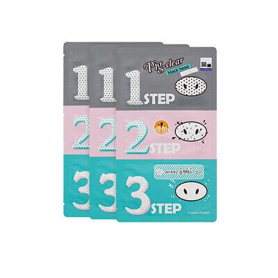 Holika Holika Pig Nose Clear Black Head 3-Step Kit 7g * 3pcs Free gifts
