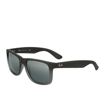 Ray-Ban Justin RB4165 852/8855 Grey Silver Mirror Sonnenbrille