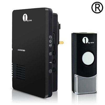 1Byone Plug-in Wireless Doorbell Easy Chime 100m Range Water-proof 36 tune