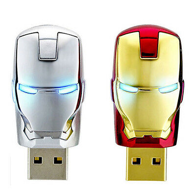 - 8GB 16GB Avengers Iron Man Retract Metal USB Flash Pen Thumb Drive Memory Stick