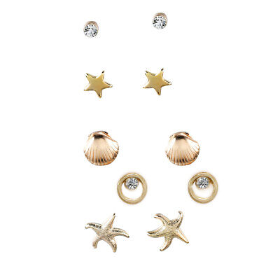Nautical Seashore Stud Earrings Set by JADA Collections