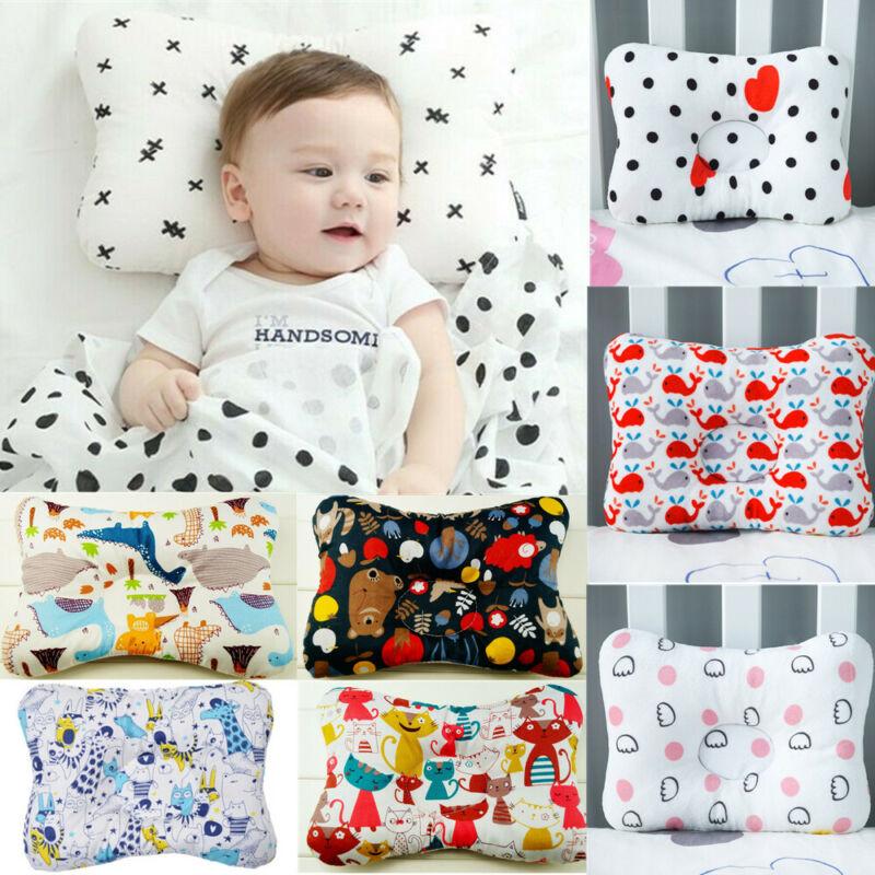 100% Cotton Baby Pillow Newborn Anti Flat Head Sleep Bedding Support Cushion