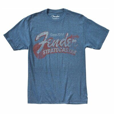 Fender Since 1954 Strat T-Shirt, Blue, Extra Large (XL) +Picks