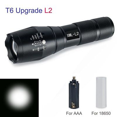 20000LM Tactical XML-L2 LED Taschenlampen Torch Lampe Zoombaren 18650/AAA Licht Led Torch Lampe