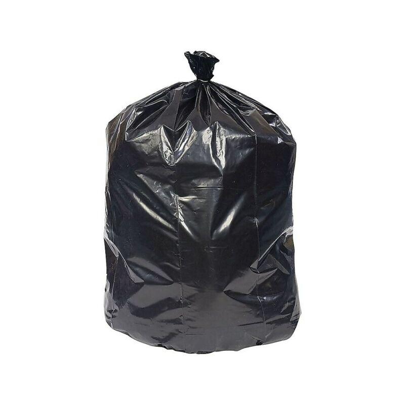 Brighton Trash Bags 40-45 Gallon 40x46 Low Density 0.65 Mil Black 125 CT 814901
