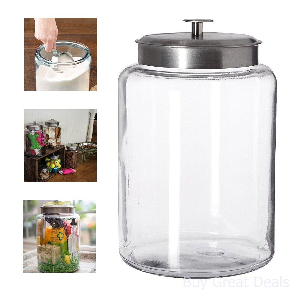 Storage Jar With Brushed Metal Lid