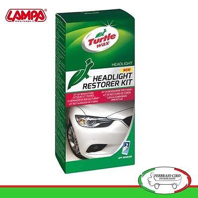 TURTLE WAX LAMPA 38488 kit lucidatura fari opacizzati camper moto auto rinnova