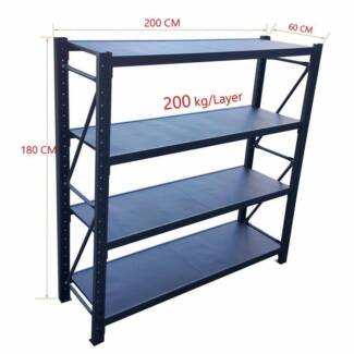 800kG MATTE 2*1.8M Steel Warehouse Racking Storage Garage Shelf S