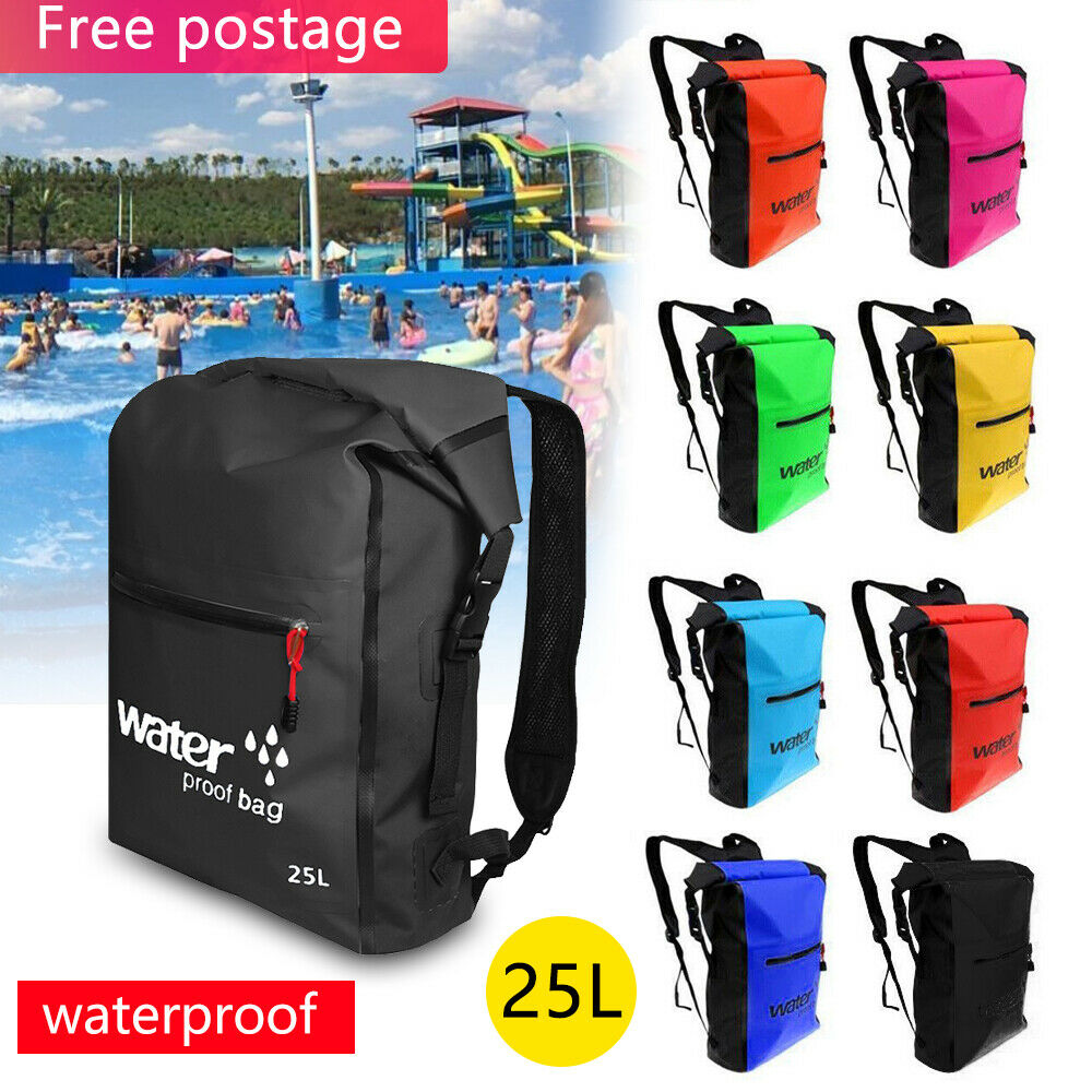 25L Waterproof Backpack Dry Bag for Outdoor Kayak Swim Canoe Surf Climbing