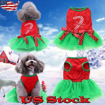 Halloween Costume For Dogs Pet Puppy Clothes Christmas Dress Party Transform USA