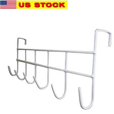 Over The Door Hook, Organizer Rack, Hanging for Coats, Hats, Towels, 6 Hook NEW