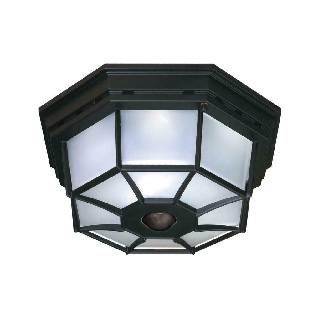 Pleasing Details About Motion Activated Outdoor Ceiling Light 5 125 In Black Motion Sensor Lighting Download Free Architecture Designs Jebrpmadebymaigaardcom