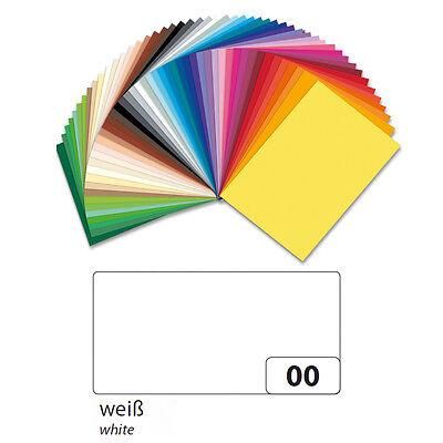 Fotokarton 10er Pack 300g/qm 50x70 cm, Weiß