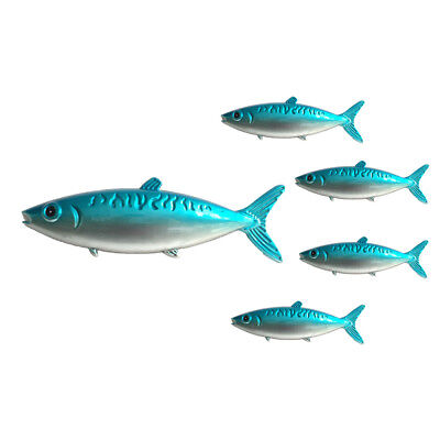 Metal Fish Wall Decor Set of 5,Fish Wall Hanging Sculpture 1 Big 4 Small