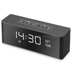 Portable LED Bluetooth Speaker with FM Radio Alarm Clock USB SD TF AUX MP3