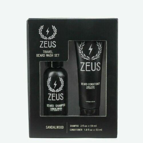 Zeus Travel Size Beard Shampoo and Conditioner Set , Sandalw