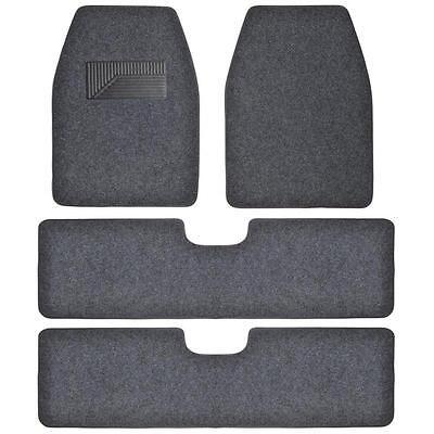 Bdkusa 3 Row Best Quality Carpet Floor Mats For Suv Van   4 Pcs   Dark Gray