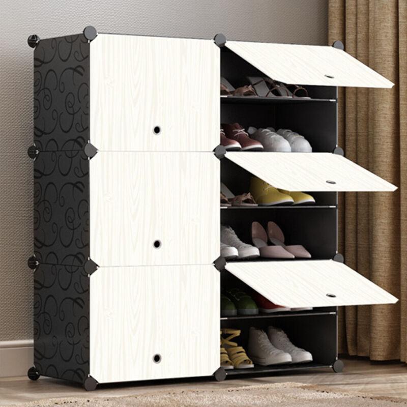 Kleiderschrank DIY Steckregal Schrank Regalsystem Garderobe Schuhregal