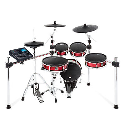 (Alesis Strike Kit 8-Piece Professional Electronic USB MIDI Mesh Heads Drum Set)