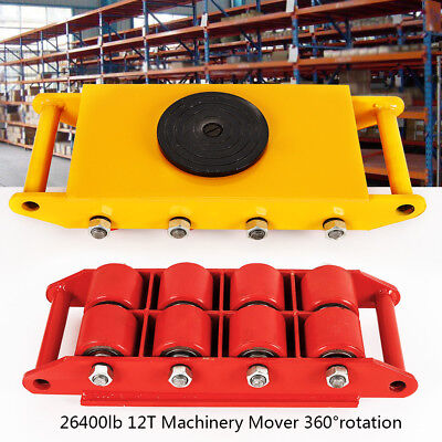 12t26400lb 360 Machinery Skate Mover 360rotation Durable Rotating Rollers Usa