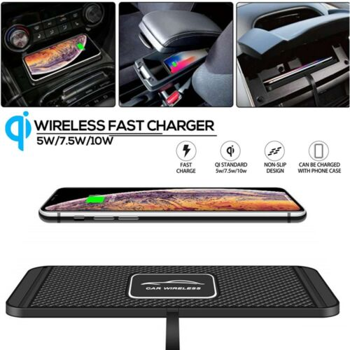 QI Wireless Car Phone Charger Fast Charging Pad Mat For iPhone Samsung Universal Cell Phone Accessories
