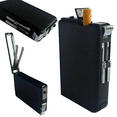 Luxus Zigarettenetui mit Sturm Feuerzeug Tabak Zigaretten Spender Etui Box Case